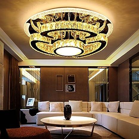 Lámpara de LED K9 Lámparas de techo de cristal para lámparas ...