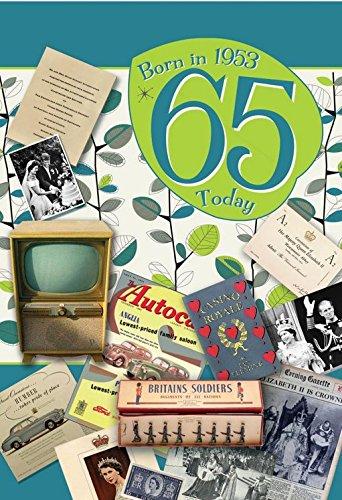 65th Birthday Card 1953 Year You Were Born Male