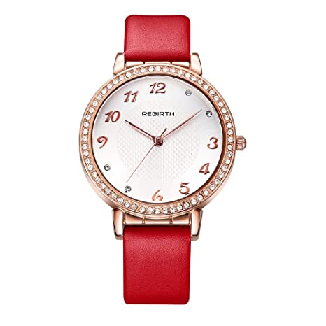 XIAOL Home Reloj de Cuarzo Dorado de Moda única para Mujer ...