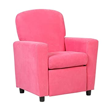 Amazon.com: Kids Sofa Armrest Chair Contemporary Pink Microfiber ...