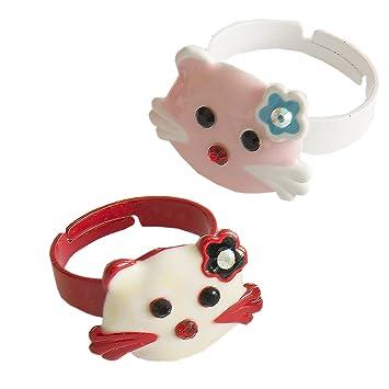 Kiss Me! Zwei Süße Topmodel Kinder Mädchen Hello Kitty Ringe ...