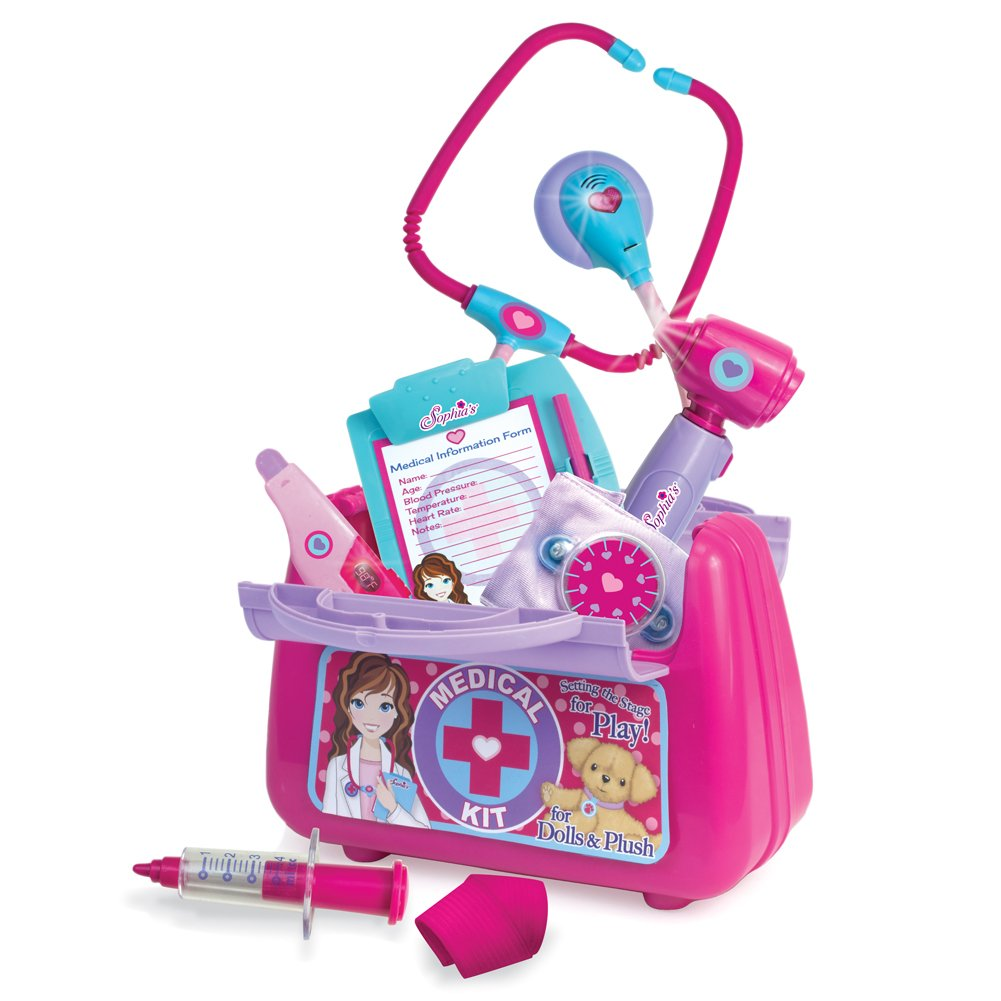 Sophia's 18 Inch Doll Pretend Medical Inch Otoscope, Kit. Complete Cuff, Medical Kit with Stethoscope, Blood Pressure Cuff, Otoscope, Syringe, Thermometer, Bandage, B00ZGKL8MI, CHRONO:bc9bce67 --- arvoreazul.com.br