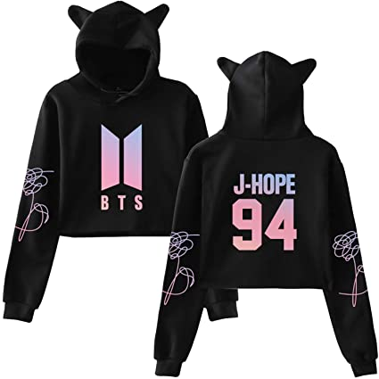 68a6733307d32 Aopostall BTS Love Yourself Answer Tear Crop Top Hoodie Suga Jung Kook V  Jimin J Hope