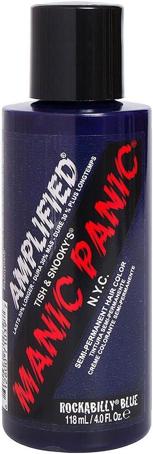 Manic Panic - Rockabilly Blue Amplified Creme Vegan Cruelty Free Semi-Permanent Hair Colour 118ml