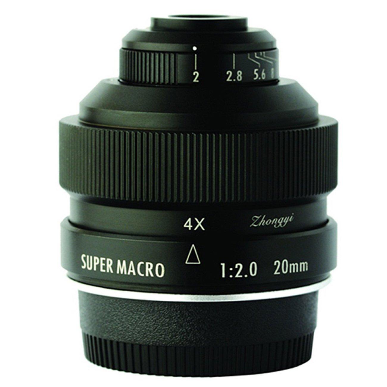 Zhongyi Mitakon 20mm f/2 4.5X Super Macro Lens for Canon EF DSLR Cameras 5D3 5D4 80D 6D2 1D 6D 1DX MarKII