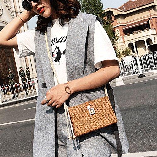 Femminile Borse Marrone Corsa Gj Mini colore Modo Svago E Barbona Lino Cotone Marrone Di Bag Crossbody In Portatile CttHBqPf