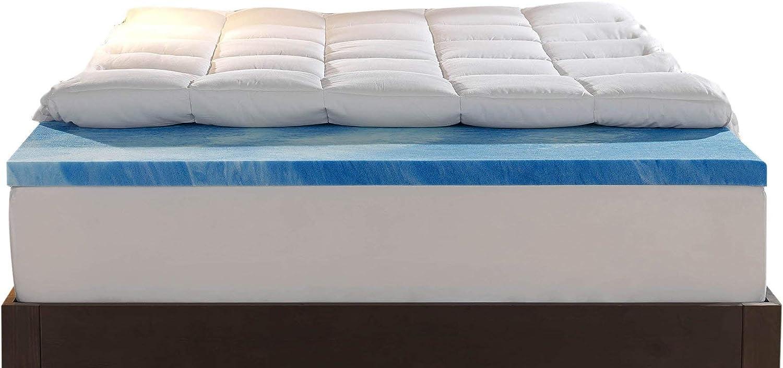 Sleep Innovations 4-Inch Dual Layer Full Mattress Topper Renewed