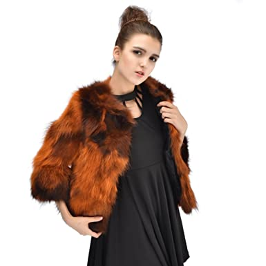 Real Raccoon Fur Coats Natural Fur Jacket Womens Winter Outwear at