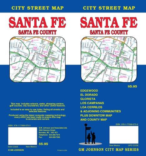 Santa Fe, NM City Street Map GMJ