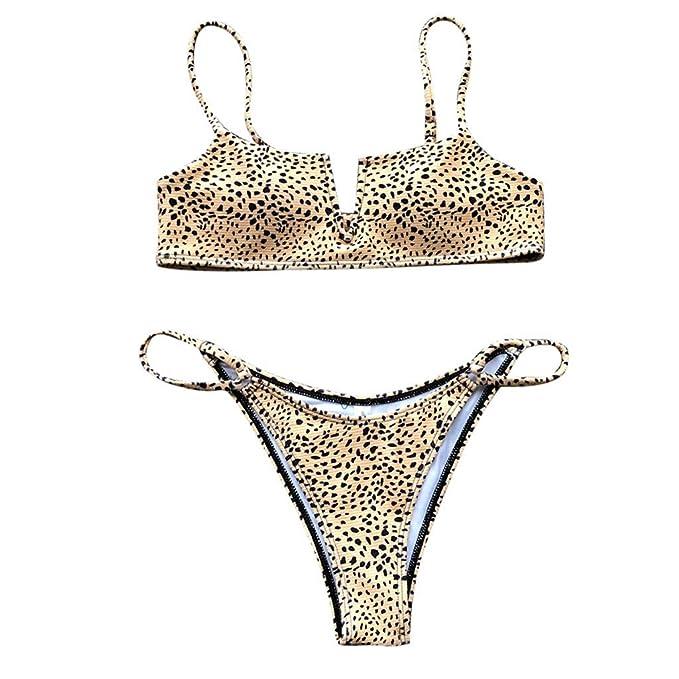 Bikini Traje de baño Grande en Color Liso Dividido, Bikinis ...