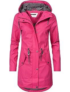 klassische Schuhe bester Preis neue Produkte für SWAMPLAND Damen PU Regenjacke Mit Kapuze Wasserdicht ...