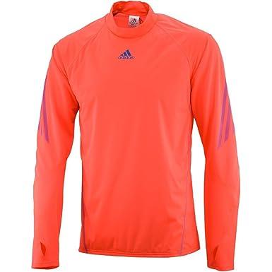 Adidas - Camiseta de running para hombre, tamaño XS, color infrared/bright azul f12: Amazon.es: Ropa y accesorios