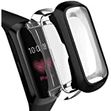 OenFoto Compatible with Samsung Galaxy Fit Case Screen Protector, Soft TPU Plated Cover Full Cover Rugged Bumper Frame…