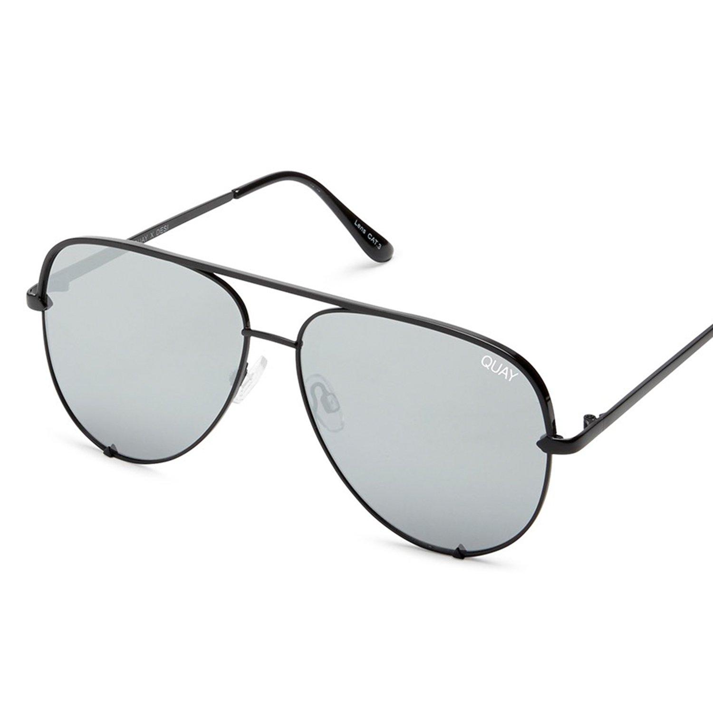 Quay Australia HIGH KEY MINI Men's and Women's Sunglasses Aviator Sunnies - Black/Silver by Quay Australia (Image #2)