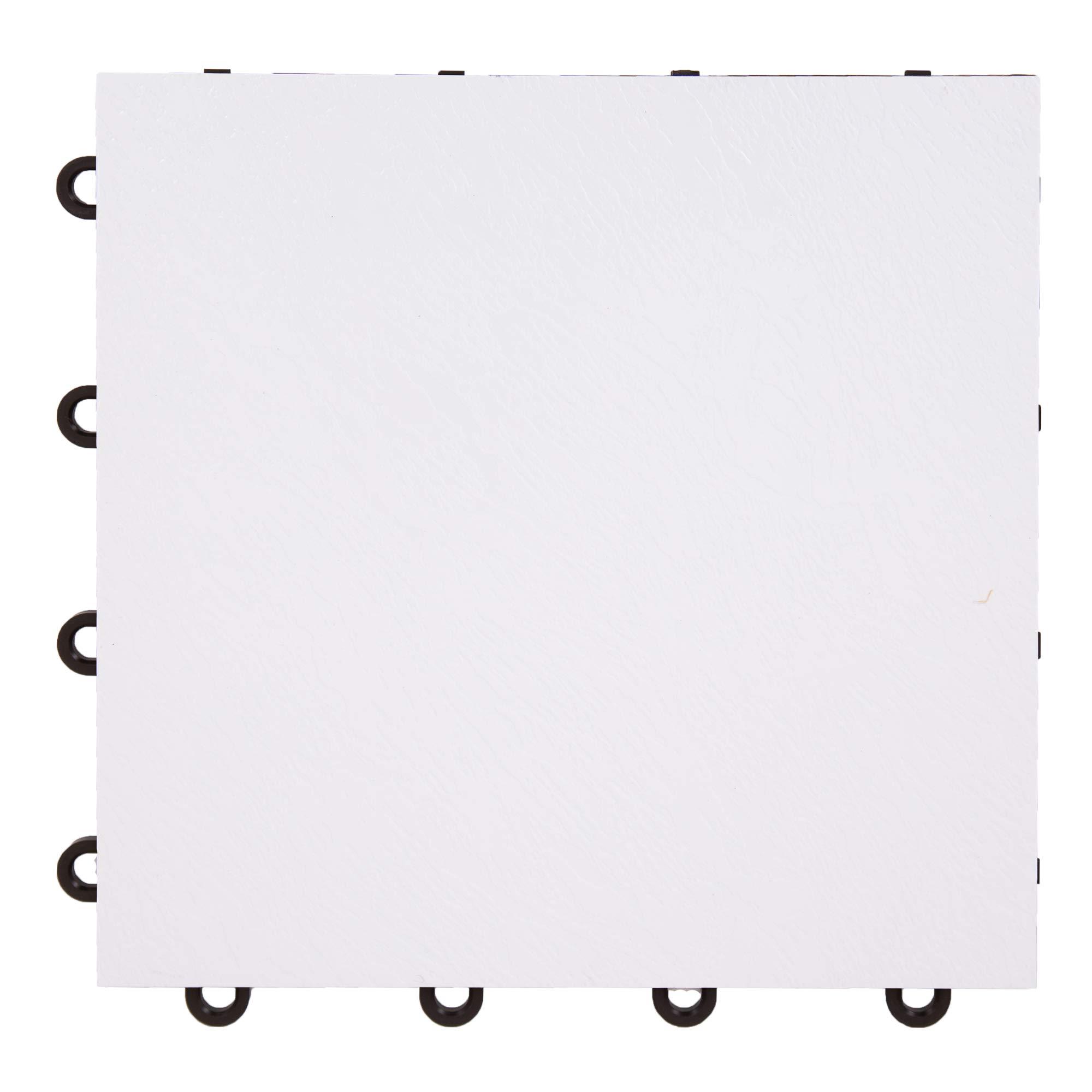 IncStores White 12'' x 12'' Practice Dance Tiles (52-12''x12'' Tiles) by IncStores