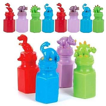 Amazon.com: Botella de burbujas de dinosaurio, 12 paquetes ...