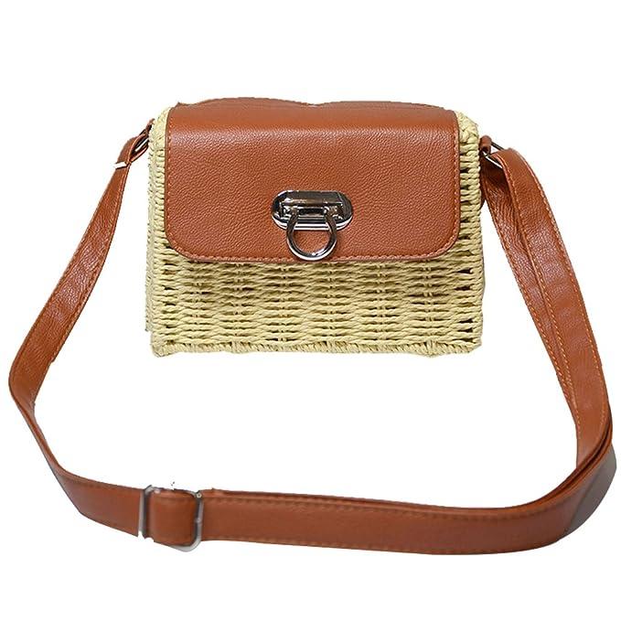 7900fb613df7 Amazon.com: Bamboo Handbag,SHZONS Bamboo Ark Bag Tote Purse Straw ...
