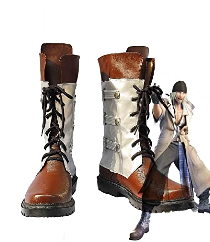 Final Fantasy XIII FF13 Snow Villiers Cosplay Shoes Boots Custom Made