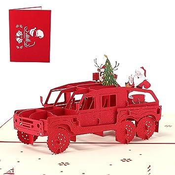 Paper Spiritz Pop-Up-Weihnachtskarte mit Weihnachtsbaum, Farbdruck ...
