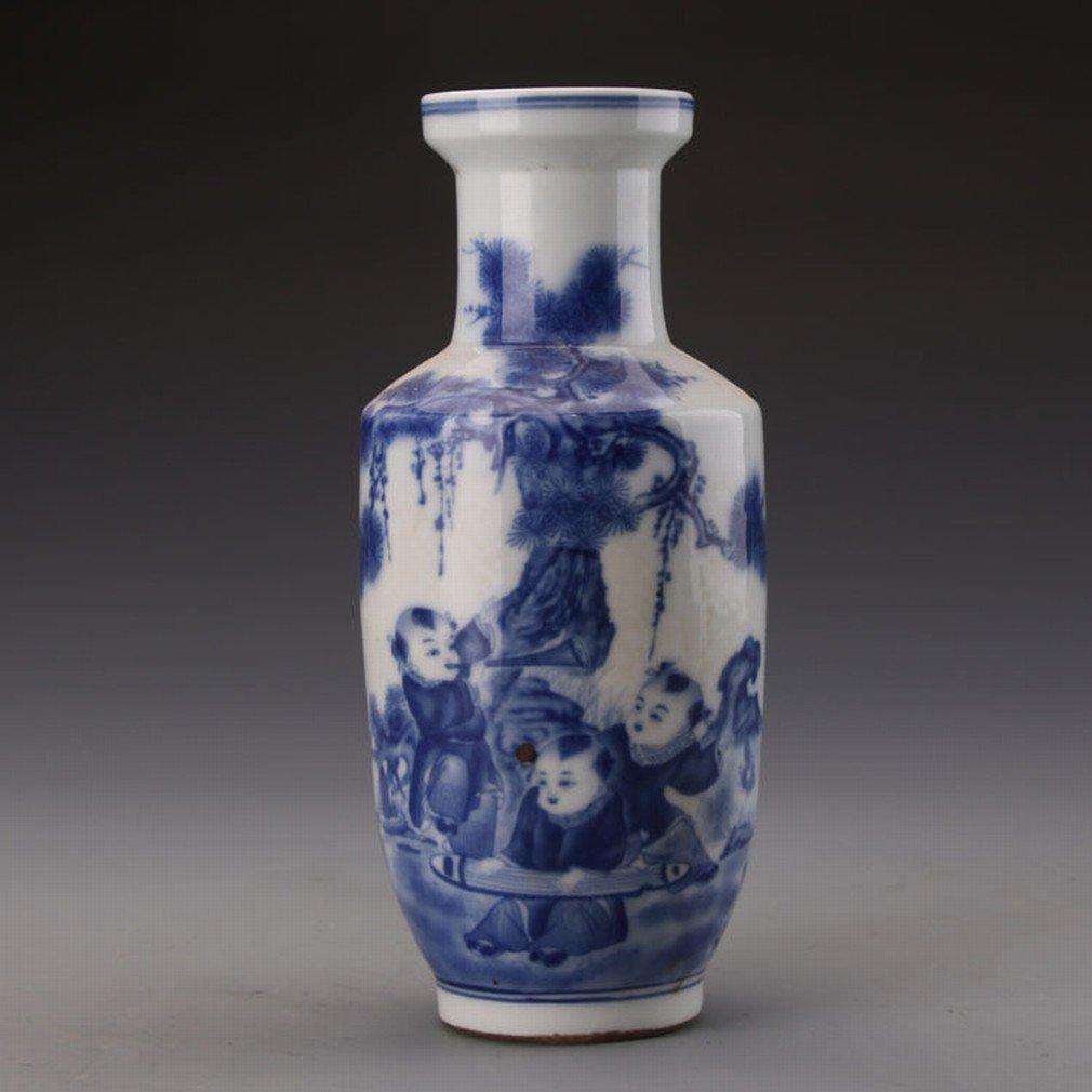Ancienne Porcelaine Bleue Et Blanche Jouant de la Batterie Barils de Musique Collection de Marteaux Jingdezhen Antiquit