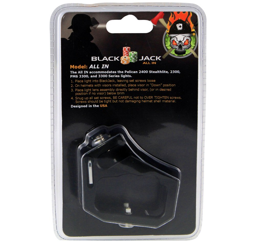 Blackjack All IN Firefighter Helmet Aluminum Flashlight Holder