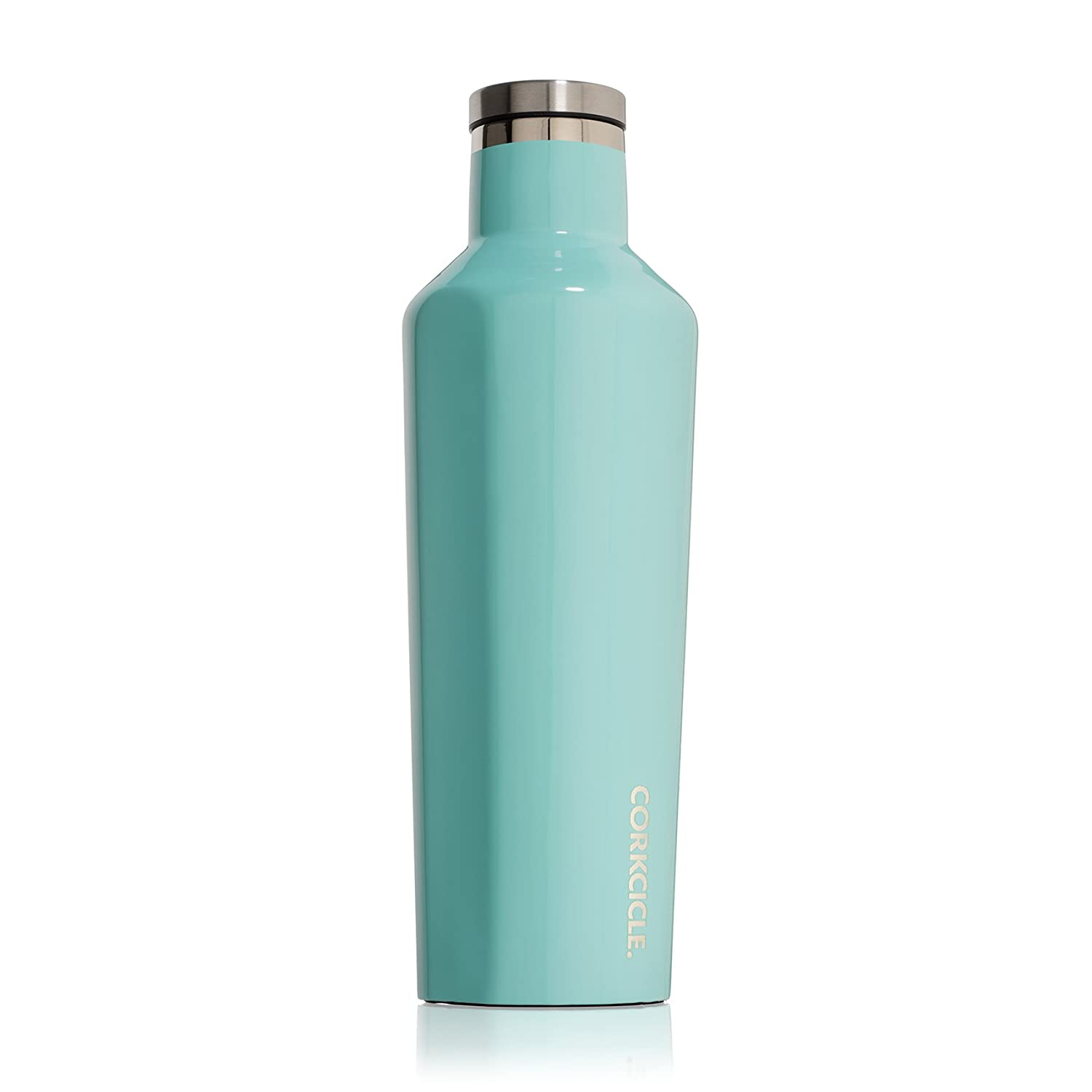 Corkcicle Canteen Classic Collection-Water Bottle & Thermos-Triple Insulated Shatterproof Stainless Steel, 9 oz, Brushed Steel C2009BS
