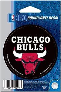 "WinCraft NBA Chicago Bulls WCR66658091 Round Vinyl Decal, 3"" x 3"""