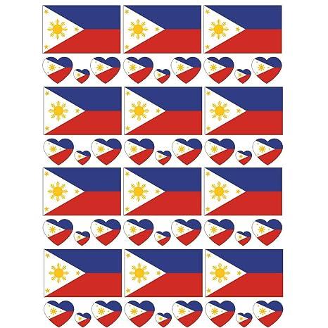 SpringPear® 12x Tatuaje Temporal de la Bandera de Filipinas para ...