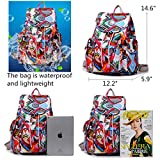 Large Water Resistant Nylon Backpack Purse