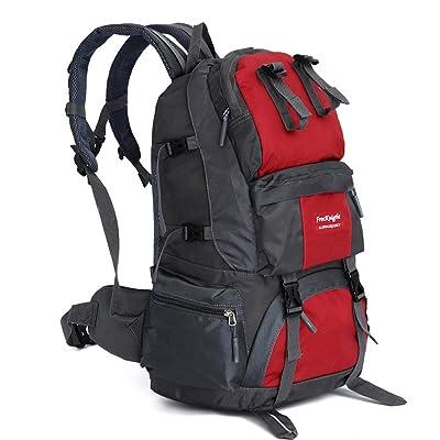 gwell extérieur en nylon imperméable sac à dos rucksackfor, camping, escalade, Randonnée, les voyages et la chasse Taille unique rouge - Rouge