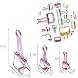 Beauty360 Foldback Clip Artículos de papelería de acero inoxidable Elástica y Strong Fasteners Pack de 3 (95mm 58mm 40mm)