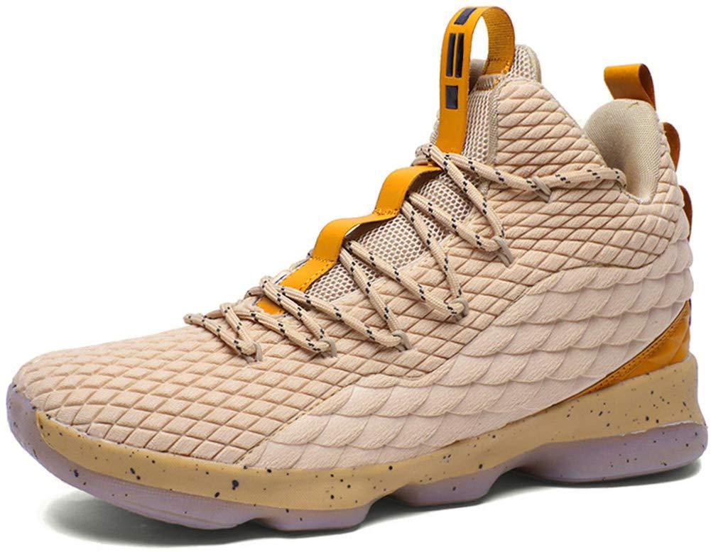 6f4e7ea3466d32 Galleon - JIYE Men's Fashion Basketball Shoes Women's Breathable Flyknit  Sneakers,Gold,37EU=5US-Men/6US-Women