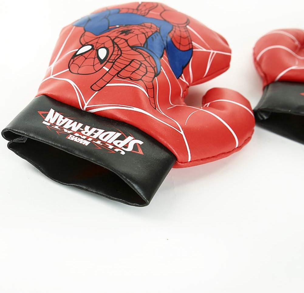 Juguete De Descompresi/ón De Dibujos Animados Equipo Deportivo Entrenamiento Familiar Vengadores De Boxeo Mingliang Juego De Guantes De Boxeo Spider-Man para Ni/ños