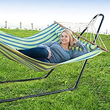 Bliss Hammocks BHS-416 Steel Hammock Stand, Black, 10 Feet