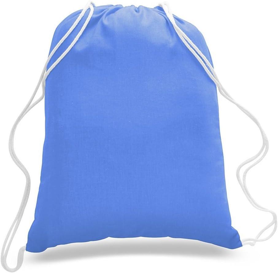 Reusable Cinch Pack, 50 Value Pack Natural, 50 Georgiabags` Large Size 100/% Cotton Drawstring Bag Plain Cotton Basic Multipurpose Backpack