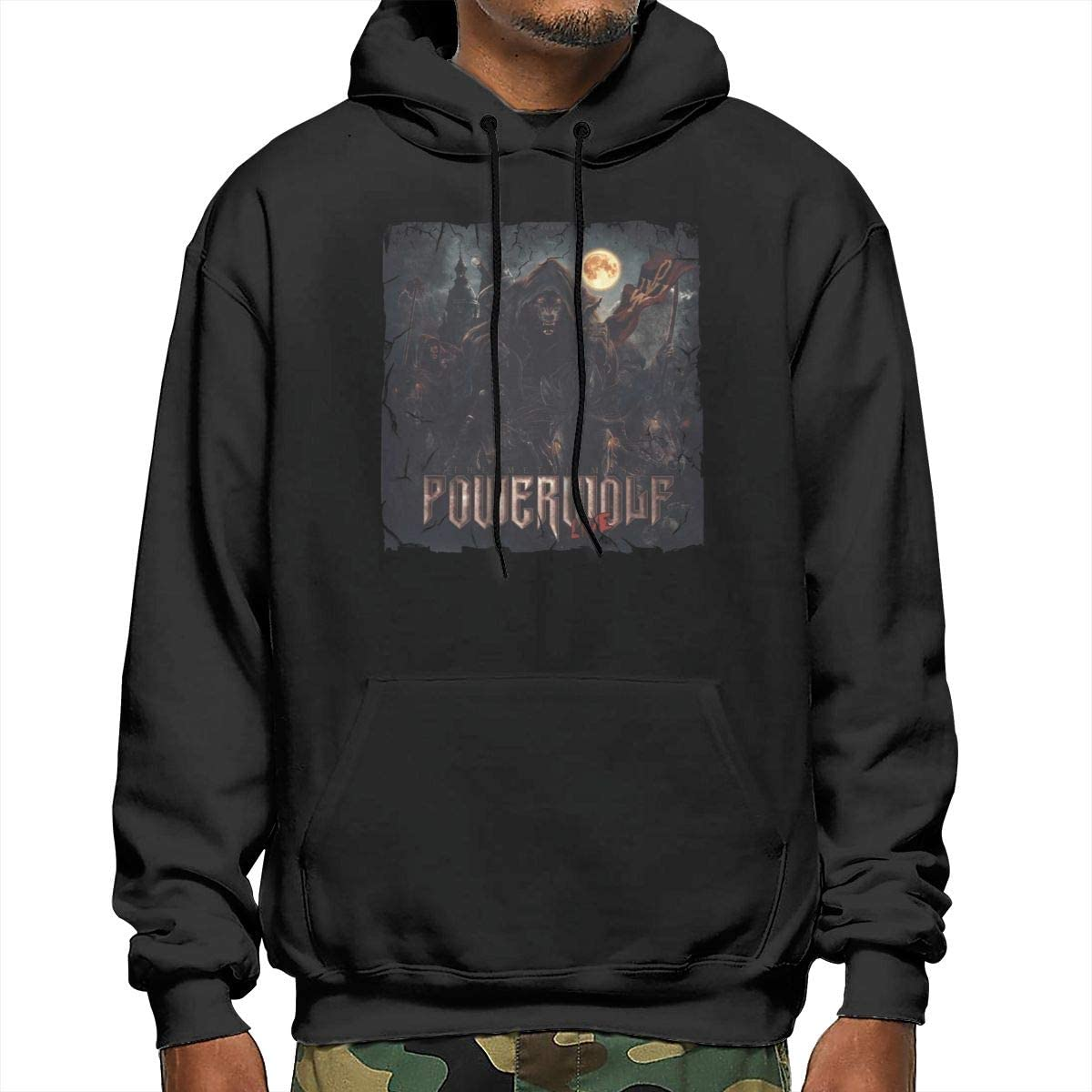 NathalieRSalmeron Powerwolf The Metal Mass Mens Pullover,Casual Long Sleeve Outwear