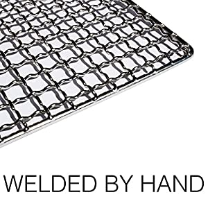 The Original Bushcraft Grill Mini - Welded Stainless Steel High Strength Mesh (Campfire Rated) - Expedition Research LLC, USA