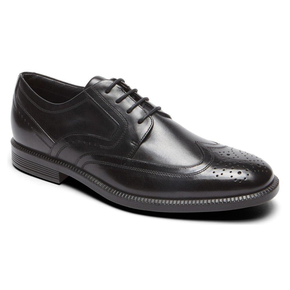 Rockport Men's Dressports Business Wing Tip Oxford, Black, 12 Medium US