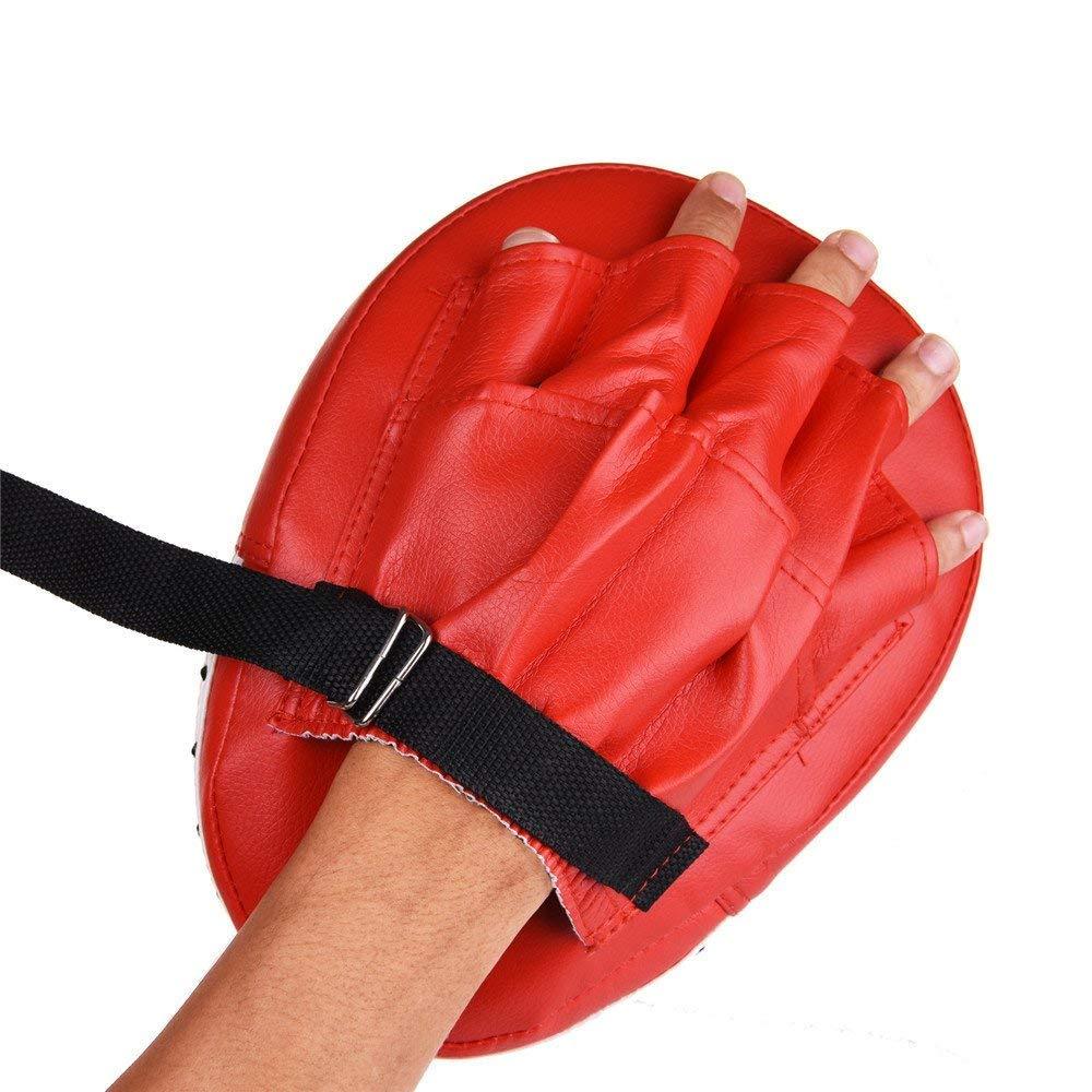 vorgekr/ümmte Muay Thai Taekwondo Handschlagpads f/ür Boxercise WULAU Boxing Focus Pads 1 Paar Hook /& Jab Zieltraining Boxing Strike Pad