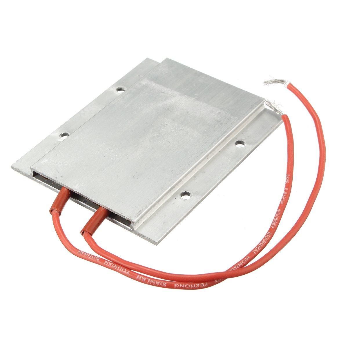 UL 200W AC / DC 220V 77 x 62 x 6mm PTC Thermostat Aluminum Heating Ceramic Heater Incubator Dehumidification