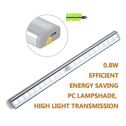 Sensor de Movimiento Luz Nocturnaluz LED de Armario, Rose Gold 10/20 LED Imán