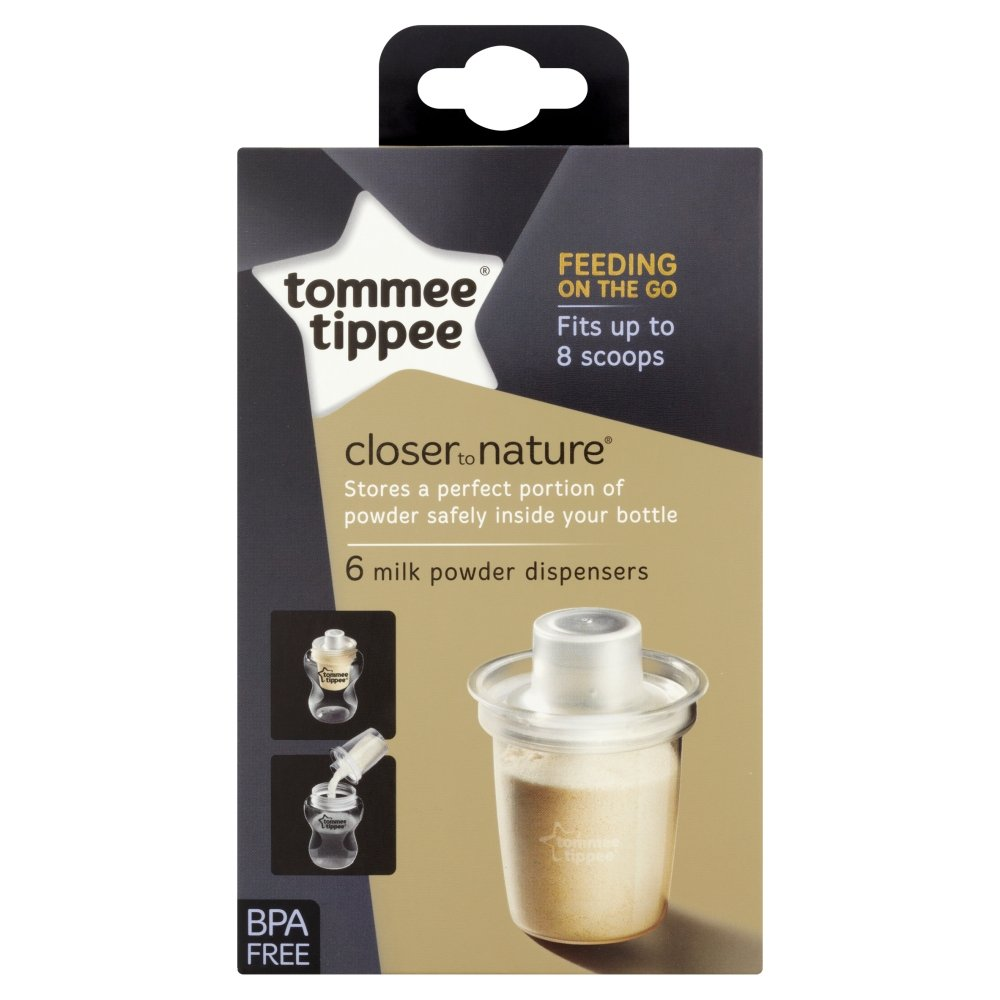 Tommee Tippee Closer To Nature Milk Powder Dispensers x 6 by Tomme Tippee