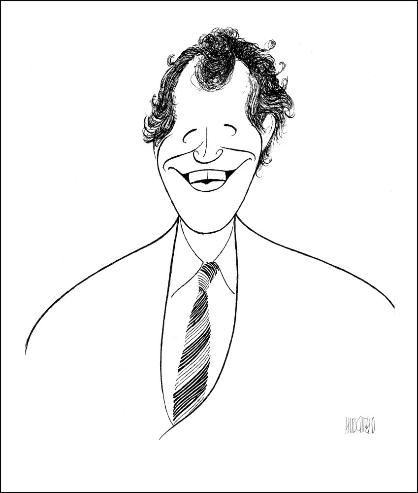 Hand Signed AL HIRSCHFELD, DAVID LETTERMAN, Limited-Edition Lithograph THE MARGO FEIDEN GALLERIES LTD. New York