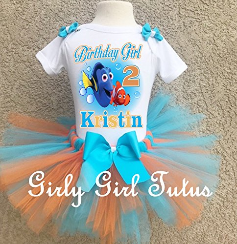 Finding Dory Girls Personalized Custom Birthday Outfit by Girli Girl Tutus
