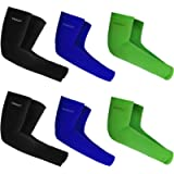 UV Sun Protection Arm Sleeves - UPF 50 Compression Cooling Arm Cover for Men & Women