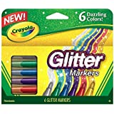 Crayola Canada Glitter Markers, 6-Count