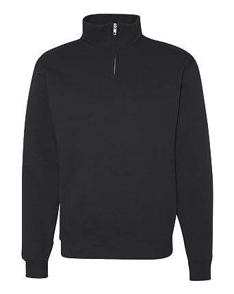 20f44561cec Jerzees 995MR NuBlend® Quarter-Zip Cadet Collar Sweatshirt  Amazon.co.uk   Clothing