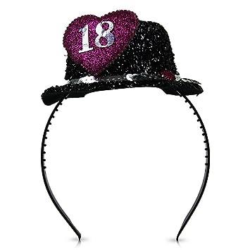 Diademas Tiara 18 con sombrero purpurina glamour de ...