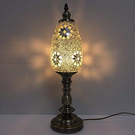 Amazon.com: SINOVO - Lámpara de mesa de mosaico turco con ...