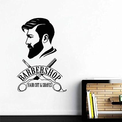 Amazon Com Melissalove Barbershop Logo Wall Decal Mural Barber Shop